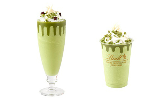 Lindt Japan brings out matcha iced drinks for a limited time