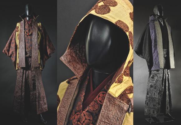 Samurai parkas for men feature traditional washi Japanese paper details