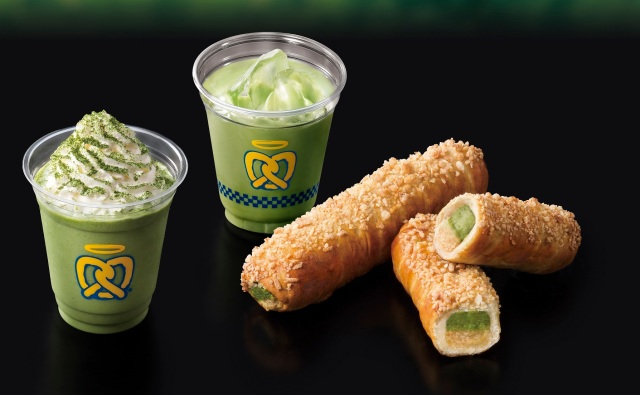 Matcha green tea cheesecake pretzels are now on sale in Japan, courtesy of Auntie Anne's