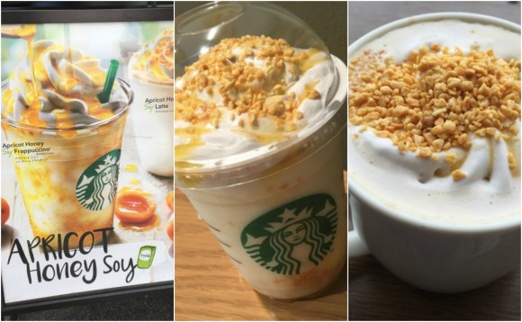 Lactose-free fun for spring as Starbucks' apricot honey soy cream lattes and Frappuccinos arrive