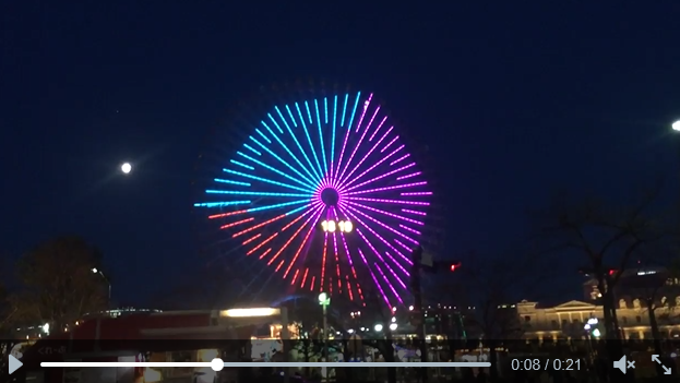 Awesome optical illusion turns Japanese Ferris wheel into a cube 【Video】