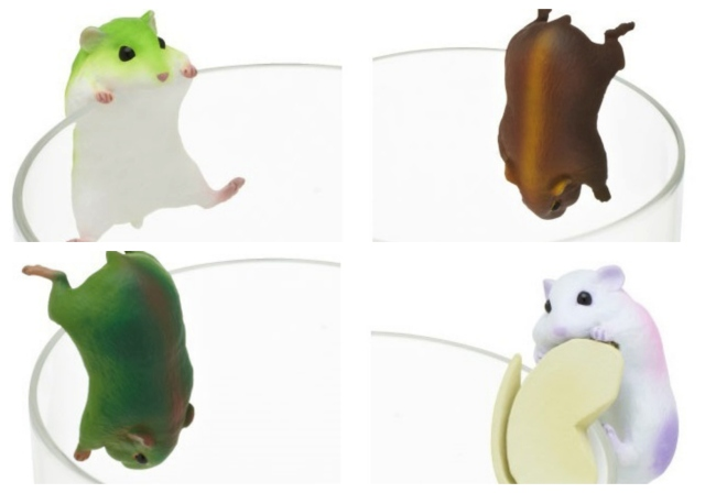 Use these cute hamster figures to make even boring old water absolutely adorable!