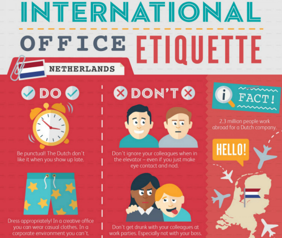 Infographic shows how working culture differs across the globe