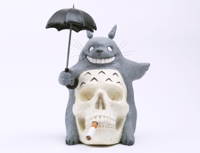 Artist reimagines kid-favorite Totoro as the grim reaper in upcoming one-of-a-kind figurine