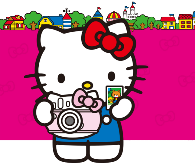 Hello Kitty-branded instant cameras, so you can shake it like a Polaroid in 2016!