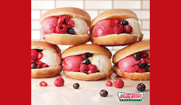 Forget cups and cones – Krispy Kreme Japan is sandwiching its ice cream inside doughnuts!