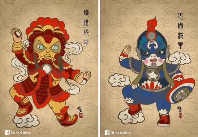 Marvel's A-list is donning some ancient Chinese attire to look their very best【Fan art】