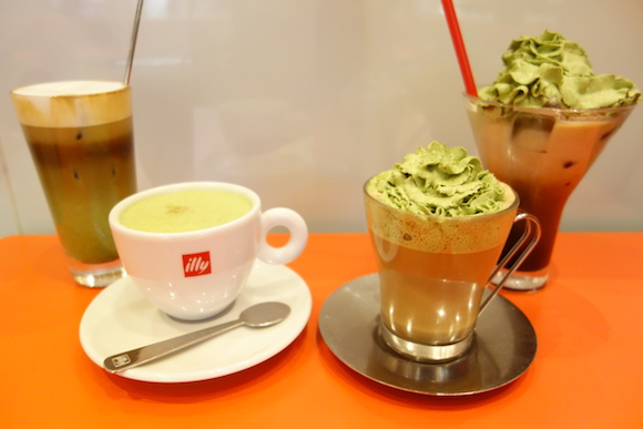 New illy matcha coffee drinks combine green tea with espresso for a limited time