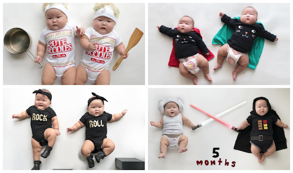 "Internet celebri-babies ""Momo Twins"" are so cute we could eat them right up【Pics】"