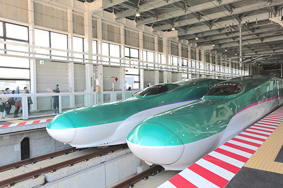 The Shinkansen now goes all the way to Hokkaido, and here's its newest, northernmost station