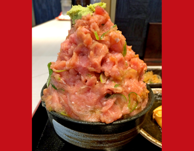 Why settle for a sushi bowl, when this restaurant will give you a sushi mountain?