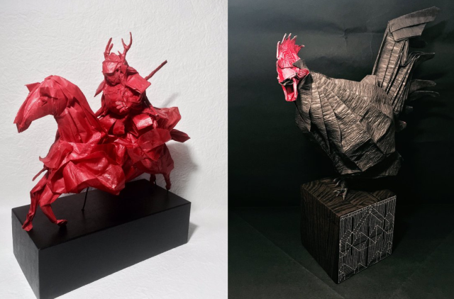 Japanese Twitter user makes unbelievable origami artwork out of a single piece of paper【Pics】