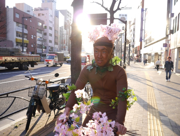 We couldn't wait to see the sakura, so we decided to become the sakura instead【Video】