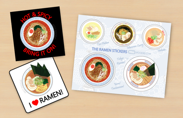 Ramen stickers let you show what your favorite Japanese food is and make new friends all at once