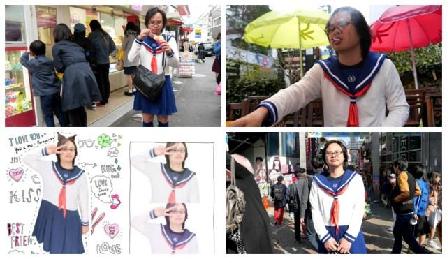 Our reporter wears the Boku Sera schoolgirl outfit, visits Harajuku, takes purikura