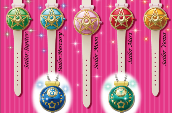 Sailor Moon Gashapon compacts and watches coming out this summer!