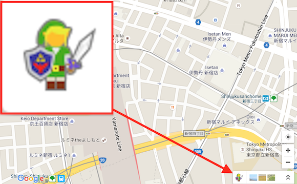 The Legend of Zelda's Link is here to help you navigate Google Maps' dungeons today!