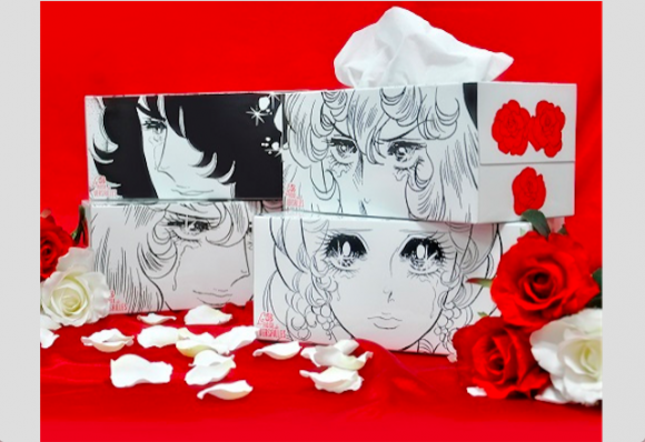 Mop up your spring sniffles with Rose of Versailles-themed tissues (plus, merchandise range)