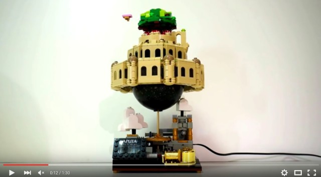 Music box-powered spinning Lego Laputa is both whimsical and impressive【Video】