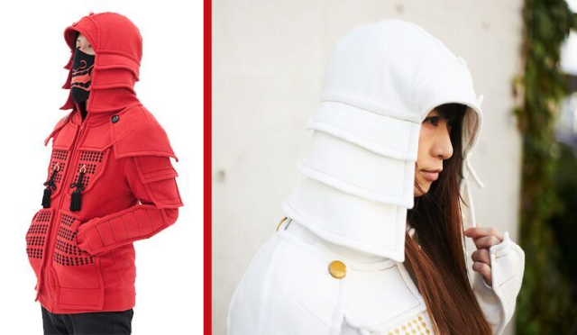 Awesome Samurai Armor Hoodies are looking to conquer the whole world/keep you warm