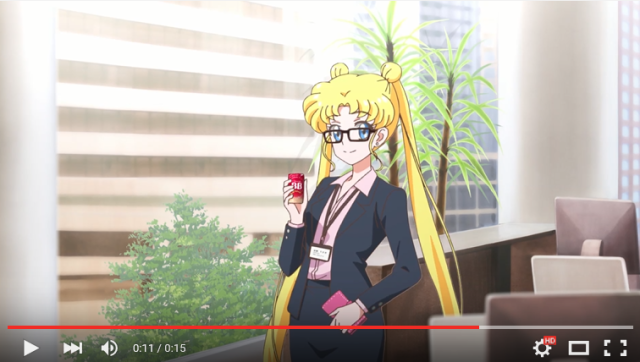 Sailor Moon grows up and gets a corporate job in new commercial 【Video】