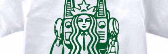 Japanese clothing retailer turns Starbucks mermaid into a mecha robot girl