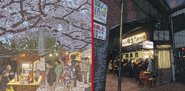 Breathtaking illustration series shows 100 amazing scenes of Tokyo