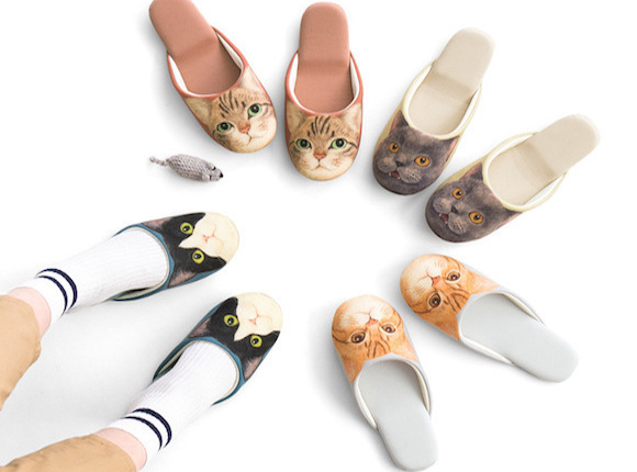 """Sneak around in cat feet with cute new """"soundless"""" kitten slippers from Felisssimo"""