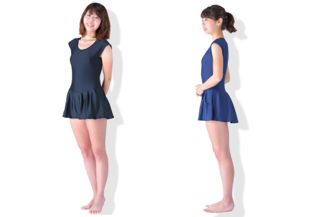 """New Japanese """"school swimsuits"""" for adult women are a stylish skirted take on one-piece swimwear"""