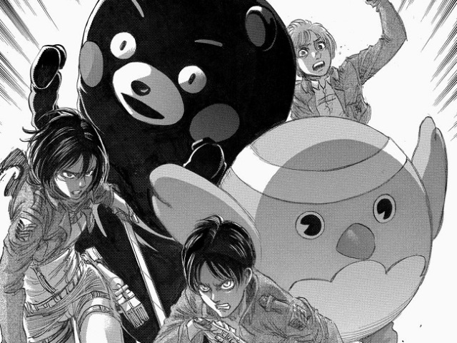 Attack on Titan author offers message of support, artwork for the people of Kumamoto