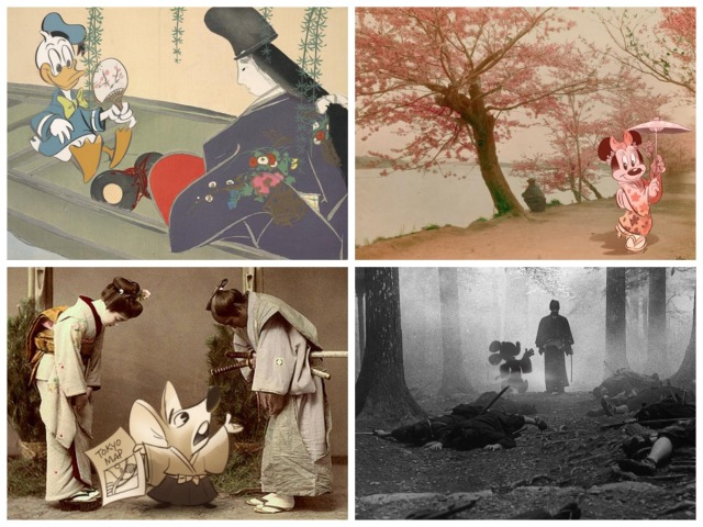 Disney artist brings classic characters to life inside pictures from traditional Japan 【Pics】