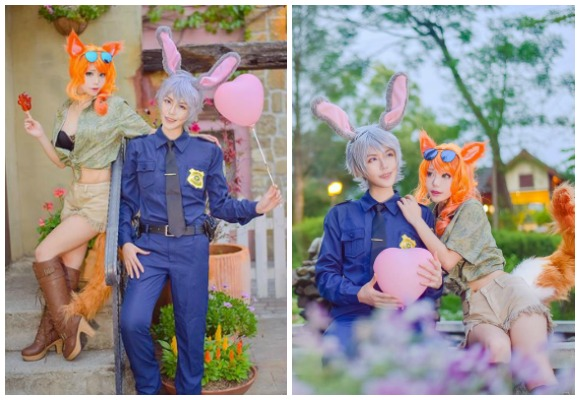 Gender-bending Taiwanese Zootopia cosplay shows that interspecies love knows no bounds 【Pics】