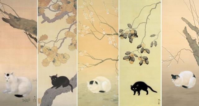 Famous Japanese painter's centuries-old cat artwork proves Japan has always loved felines