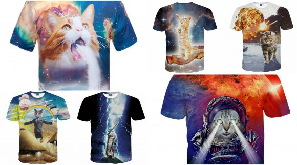 You have cat to be kitten us with these totally OTT kitty T-shirts!【Pics】