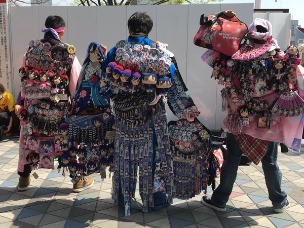 Going to an anime concert? Don't forget to strap your collection of merch to yourself first!