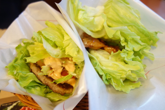 "Japan's MOS Burger replaces hamburger buns with lettuce for limited ""Natsumi"" range"