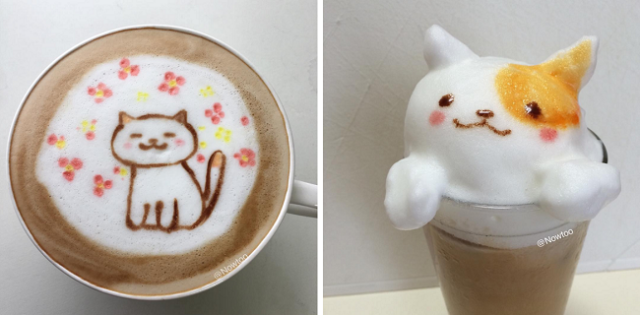 The cats came back, and they're resting on top of Japan's lattes!【Photos】