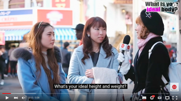 Japanese women describe their personal ideal height and weight【Video】