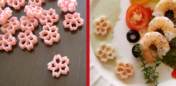 Sakura season comes to the kitchen with cherry blossom-shaped pasta