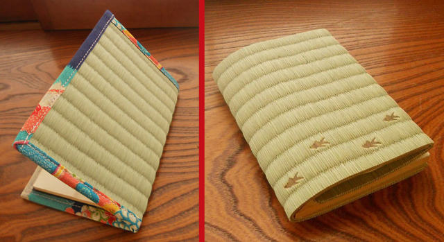 Gorgeous Japanese tatami reed book covers, card holders a fresh outlet for old-school style