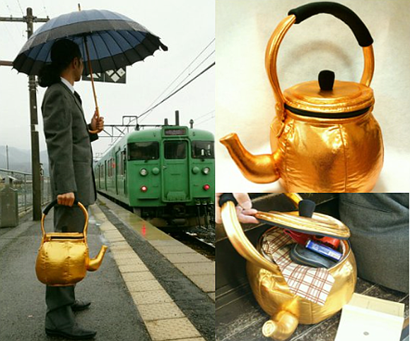 Make a bold fashion statement by swapping your briefcase for a teapot bag!