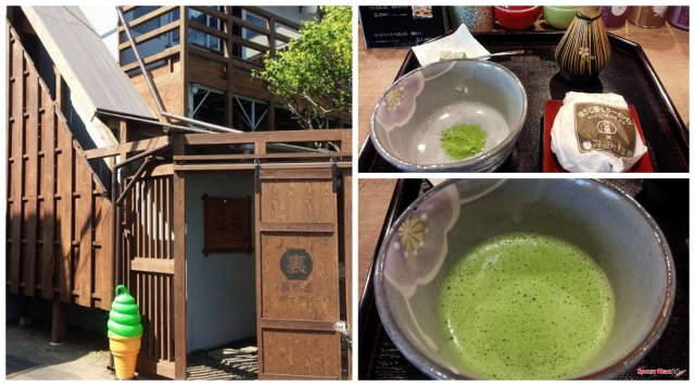 Prepare your own cup of Kyoto matcha at a cafe in Tokyo … with sweets, of course!