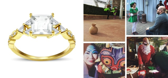 It's the Zelda-themed scavenger hunt proposal of a lifetime—and a gorgeous Triforce ring to boot!