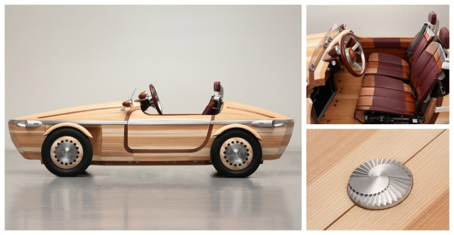 Toyota's wooden concept car serves as a time capsule for generations to come