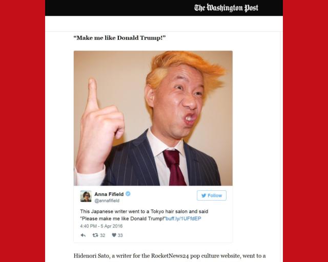 The Washington Post would like you to meet RocketNews24's Mr. Sato