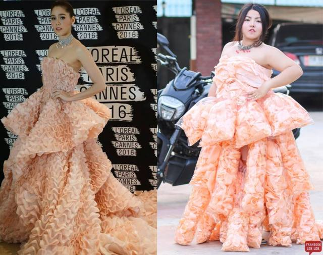 Plus-size Thai model's super low-budget prawn cracker cosplay goes viral
