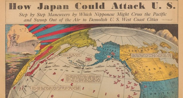 This map predicted how Japan would attack the US during World War II