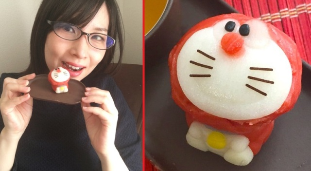 It's double the sweetness as Meg tries sweet-bean tea ceremony treats shaped like Doraemon