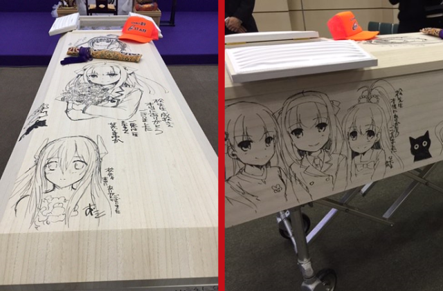 Japanese novelist goes out in anime-style in coffin illustrated with characters he created 【Pics】