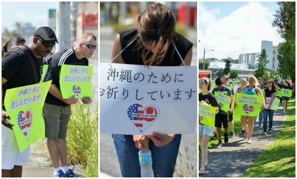 "Americans show support to Okinawa after murder, locals ask ""Why doesn't Japanese news show this?"""